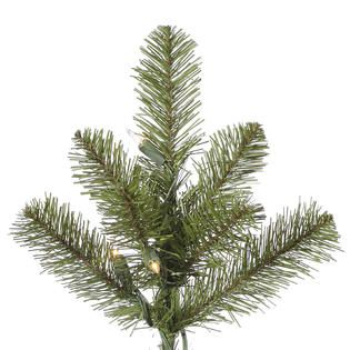 Vickerman 6.5 Prelit Slim Ontario Spruce Artificial Christmas Tree
