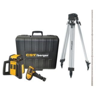 CST/BERGER Electronic Self Leveling Rotary Laser Level, Horizontal, Exterior   Rotary and Straight Line Laser Levels   45JL20|RL25HCK