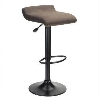 "Winsome Marni 24.90"" 29.84"" Adjustable Air Lift Stool in Black   93189"
