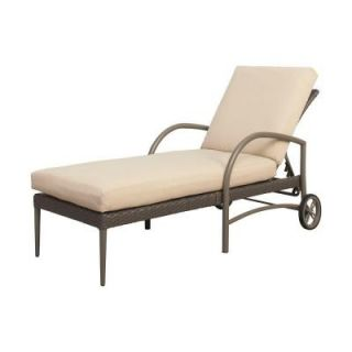 Hampton Bay Posada Patio Chaise Lounge with Cushion Insert (Slipcovers Sold Separately) 153 120 CL NF