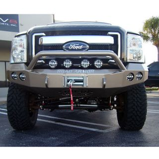 Road Armor Stealth Base Front Bumper With Pre Runner Guard 2011 Ford Super Duty
