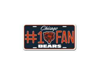 Chicago Bears Official NFL License Plate by Rico Industries 308612