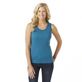 Laura Scott Womens Rib Knit Tank Top
