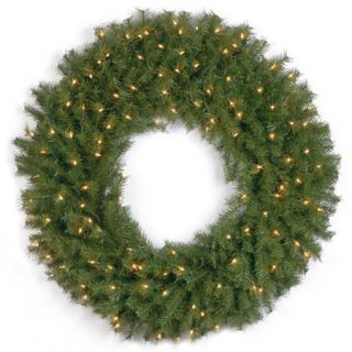 "National Tree 36"" Norwood Fir Wreath with 100 Clear Lights"