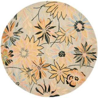 Safavieh Blossom Light Blue/Multi 6 ft. Round Area Rug BLM789A 6R