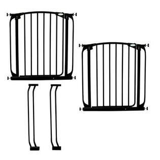 Dreambaby Chelsea Swing Close Gate Extra Value Pack  Black   Baby