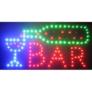 Creative Motion Industries Bar LED Sign   Home   Home Decor   Lighting