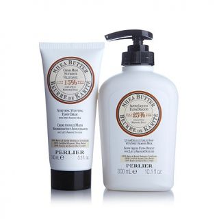 Perlier Shea Butter Hand Cream and Liquid Soap   7424894