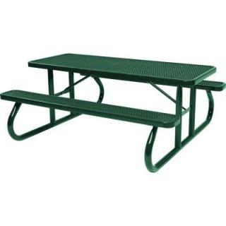 Tradewinds Park 8 ft. Green Commercial Picnic Table HD D111GS GR