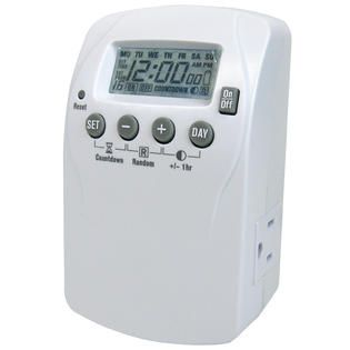 Prime Wire 2 Outlet Heavy Duty 7 day Digital Timer with 16 settings
