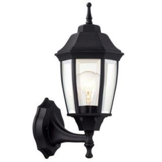 Hampton Bay 1 Light Black Dusk to Dawn Outdoor Wall Lantern BPP1611 BLK