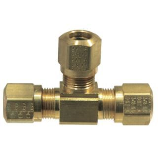 TRAMEC SLOAN Union Tee,Compression,Brass,150psi   Brass Air Brake Connectors and Accessories   32WG68|964 10
