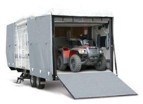 Classic Accessories 72463   Model 4 Classic Accessories PolyPro III Deluxe Toy Hauler Cover   Toy Hauler Covers