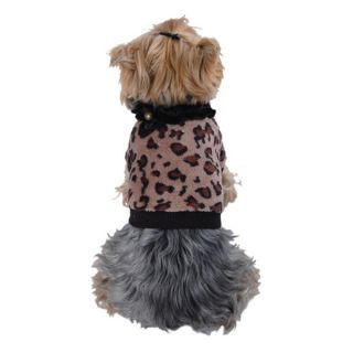 ANIMA Soft Coral Fleece Leopard Print Dog and Pet Sweater   17635483