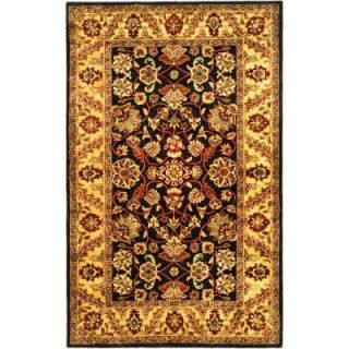 Safavieh Golden Jaipur Black/Gold 5 ft. x 8 ft. Area Rug GJ250D 5