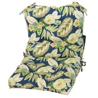 Greendale Home Fashions Marlow Outdoor Seat/Back Chair Cushion, Blue