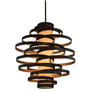 Corbett Lighting 113 76 Bronze with Gold Leaf Pendant Light   Build