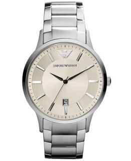 Emporio Armani Mens Stainless Steel Bracelet Watch 43mm AR2430