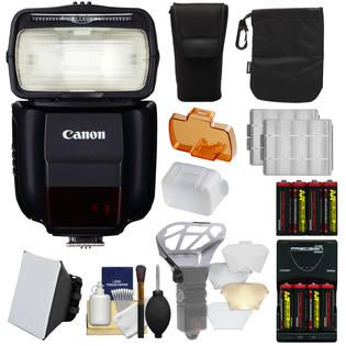 Canon Speedlite 430EX III RT Flash with Soft Box + Diffuser Bouncer