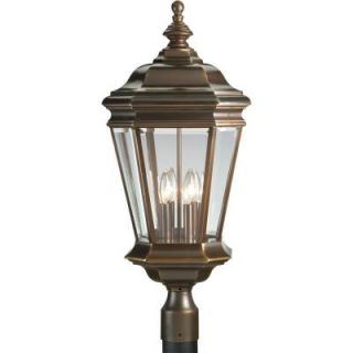 Progress Lighting Crawford Collection Oil Rubbed Bronze 4 light Post Lantern P5474 108