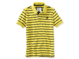 Aeropostale Mens Pigeon Stripes Rugby Polo Shirt 416 XS