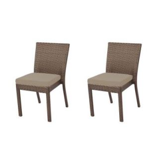 Hampton Bay Beverly Patio Dining Chair with Beverly Beige Cushion (2 Pack) 65 23311B   Mobile