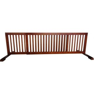 Richell Freestanding Wood Adjustable Pet Gate