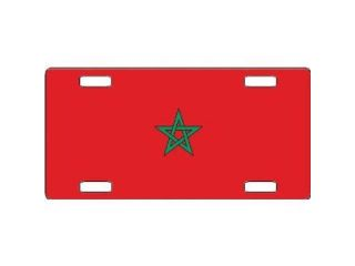 Morocco Flag Aluminum License Plate   SB LP4101