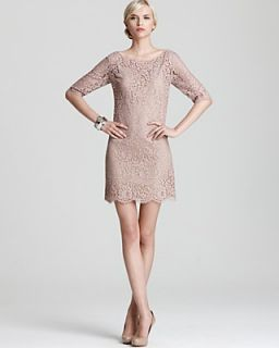 Robert Rodriguez Shift Dress   Elbow Sleeve Lace