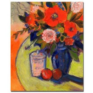 Trademark Fine Art 26 in. x 32 in. Red Flowers with Jar Canvas Art SG070 C2632GG