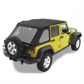 Bestop   Bestop Trektop Replace A Top Soft Top (Black Diamond) NX Style, 52823 35   Fits 2007 to 2016 JK Wrangler Unlimited and Rubicon Unlimited