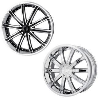 DIP Wheels D67 (Ice) Black Or Chrome Wheels