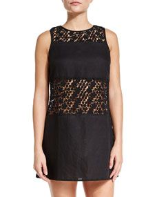 Tory Burch Crocheted Lace A Line Coverup Dress