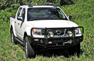 ARB 4x4 Accessories   ARB 4x4 Accessories Front Winch Mount Deluxe Bull Bar Bumper (Black) 3438260   Fits 2005 to 2008 Nissan Xterra