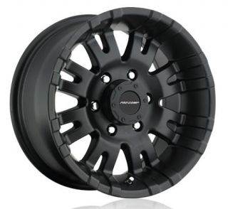 Pro Comp Alloy Wheels   Series 5001, 17x9 with 5 on 5.5 Bolt Pattern   Satin Black