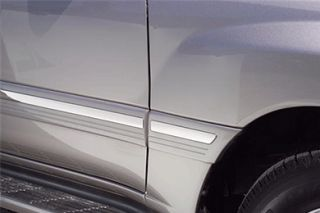 2007 2014 Mini Cooper Chrome Side Fender Vents   Putco 400064   Putco Chrome Side Molding