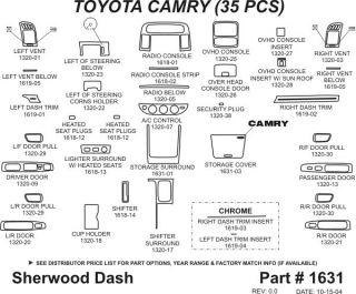 2005, 2006 Toyota Camry Wood Dash Kits   Sherwood Innovations 1631 N50   Sherwood Innovations Dash Kits