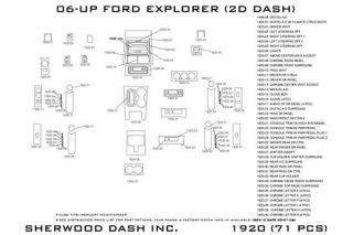 2010 Ford Explorer Wood Dash Kits   Sherwood Innovations 1920 R   Sherwood Innovations Dash Kits