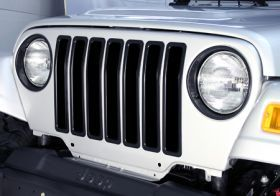 1987 1995 Jeep Wrangler Bar Billet Grilles   Rugged Ridge 11306.04   Rugged Ridge Grille Inserts