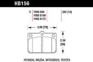 Hawk HB156E.562   Front Pads   Full Set   Brake Pads