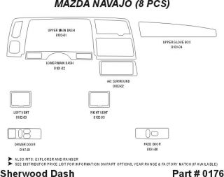 1991, 1992 Ford Explorer Wood Dash Kits   Sherwood Innovations 0176 N50   Sherwood Innovations Dash Kits