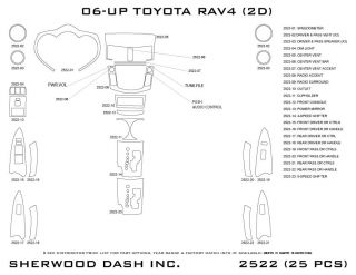 2006 2012 Toyota RAV4 Wood Dash Kits   Sherwood Innovations 2522 N50   Sherwood Innovations Dash Kits