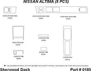 1994 1997 Nissan Altima Wood Dash Kits   Sherwood Innovations 0185 N50   Sherwood Innovations Dash Kits