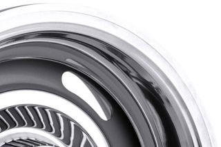 "Vision 55 5883   6 x 139.70mm Single Bolt Pattern Silver 15"" x 8"" 55 Silver Rally Wheels   Steel Wheels & Rims"