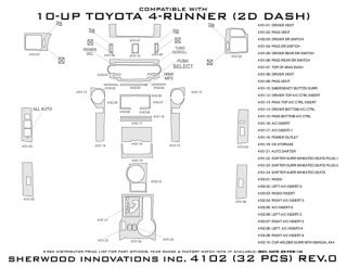 2010, 2011, 2012 Toyota 4Runner Wood Dash Kits   Sherwood Innovations 4102 AJ   Sherwood Innovations Dash Kits