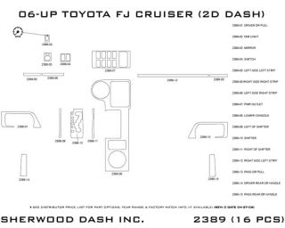 2007, 2008 Toyota FJ Cruiser Wood Dash Kits   Sherwood Innovations 2389 N50   Sherwood Innovations Dash Kits