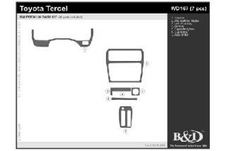 1995 1998 Toyota Tercel Wood Dash Kits   B&I WD167 DCF   B&I Dash Kits