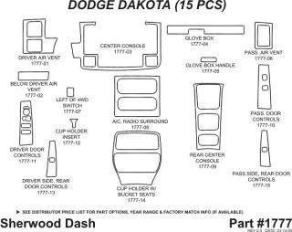2001 2007 Dodge Dakota Wood Dash Kits   Sherwood Innovations 1777 N50   Sherwood Innovations Dash Kits