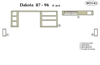 1987 1996 Dodge Dakota Wood Dash Kits   B&I WD143 DCF   B&I Dash Kits