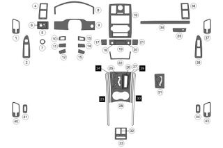 2008, 2009, 2010 Chrysler 300 Wood Dash Kits   B&I WD865A DCF   B&I Dash Kits